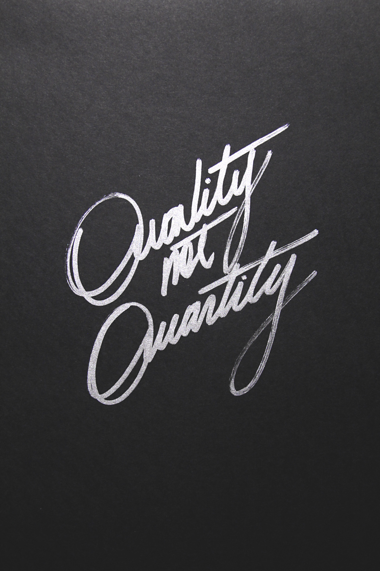 yellowtrace:  Quality not Quantity.