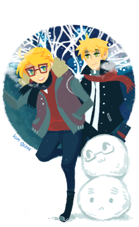 kim-quim:  My small image December entry for the USUK Calendar! Thank you all to those who have supported! \ o /