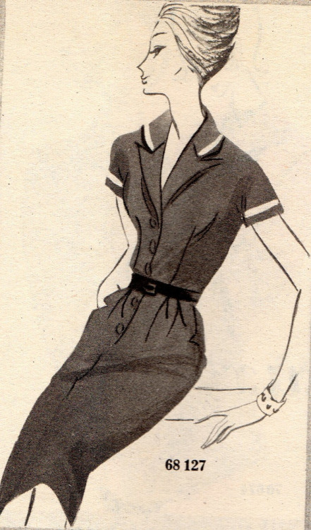 The 1960s-1960 L'écho de la mode illustration (by april-mo)