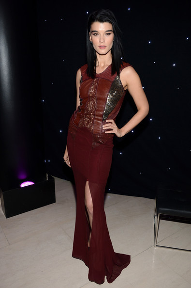 SPOTLIGHT. Crystal Renn at Barneys New York x Disney Electric Holiday unveiling in our AW12 Mixed Media Dress.