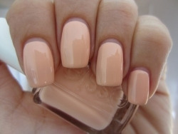 Nude colour essie nails