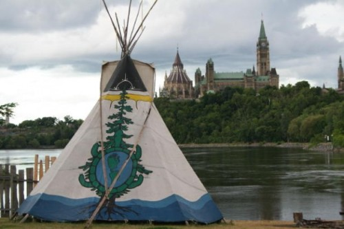 Canada's Only Urban Native Attraction Has a Vision For millennia, the Ottawa River has been a major artery through the wilderness of eastern Canada, providing a highway of travel and trade for the Algonquin First Nation. One of the most strategic places lies at the junction of the Rideau, Gatineau and Ottawa Rivers. Here, next to Chaudière Falls, is Victoria Island, an important Native encampment and sacred ceremonial spot for countless centuries.