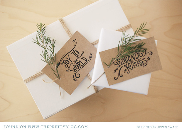 Christmas Tags | The Pretty Blog Oh yes, it's also time to start prepping for Christmas! I'm pretty obsessed with modern calligraphy. For Christmas I'm asking Santa to give me a calligraphy kit! I really like the look of the tags on Kraft paper, but of course you could print these on any type of paper to match your paper. You can even get these tags in English or Afrikaans!