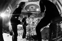 theswinginsixties:  The Doors on stage at the Fillmore East, New York City, 1968. Photo by Yale Joel.