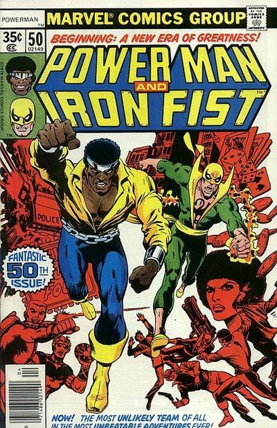random-shane:  Comic Book Cover of the Day Sweet Christmas! It's Power Man & Iron Fist issue 50 (April 1978) by Dave Cockrum