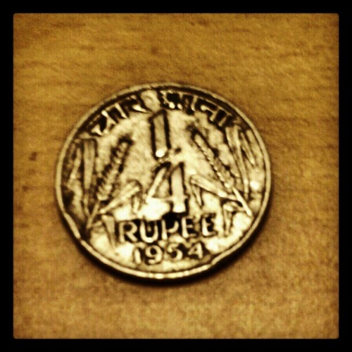 Ever seen one of these? Didn't know non-decimal coins ever existed?… #Rupee #Coins ow.ly/foMZZ