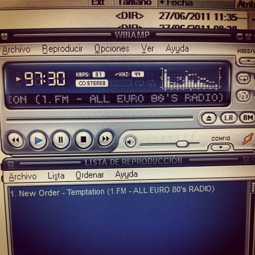 #neworder #temptation #winamp #blue #player #manchester #music #live #radio (at IWS.es)