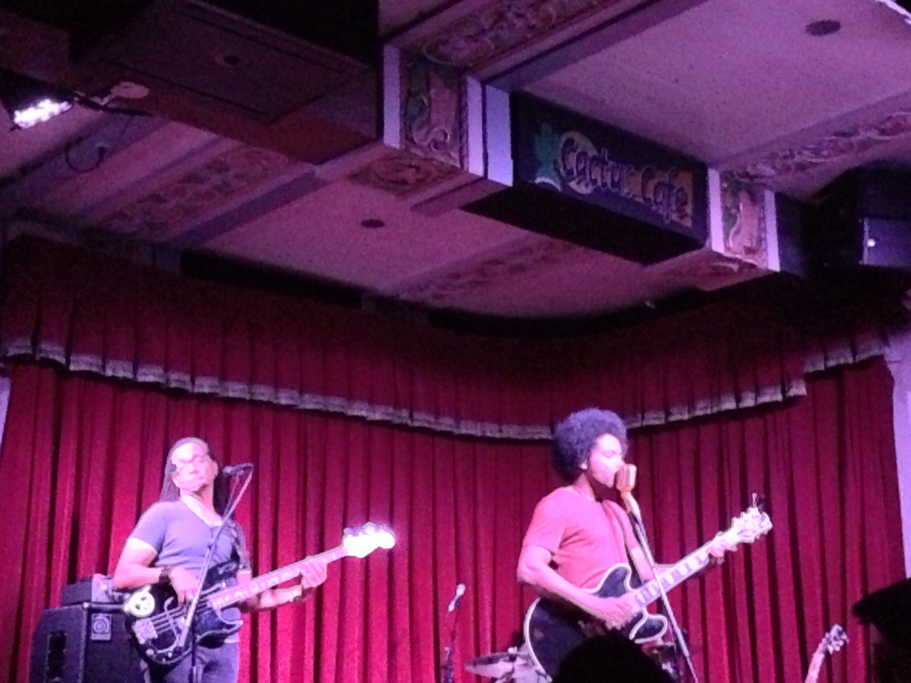 erina:  Saw Alex Cuba @ Cactus Cafe with elizs last night :)  SUCH A GREAT SHOW! Both Erin and I were dancing in our seats.