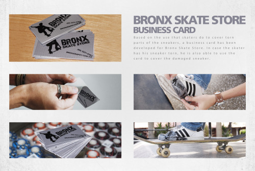 Bronx Skate Store Business Cards Ad by Todacor