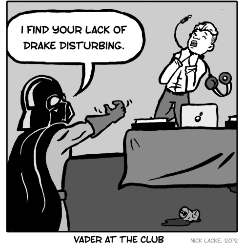 Darth Vader at the Club by Nick Lacke