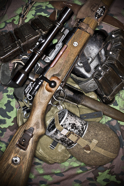 45-9mm-5-56mm:  Mauser 98k and Gear by DIMITRY FOMIN on Flickr.