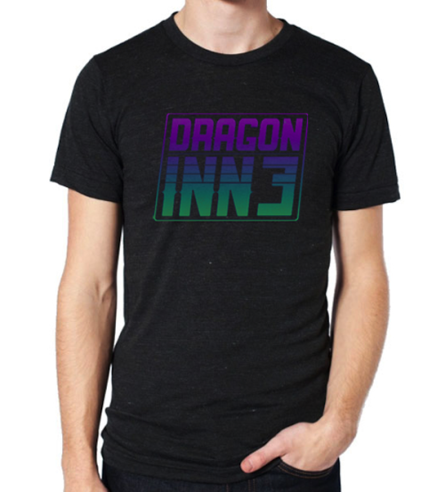 We have shirts for sale now.  http://dragoninn3.bandcamp.com/merch/di3-logo-shirt