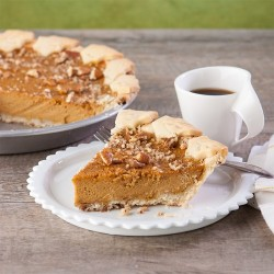 Gluten-Free, Dairy-Free Sweet Potato Nog Pie.