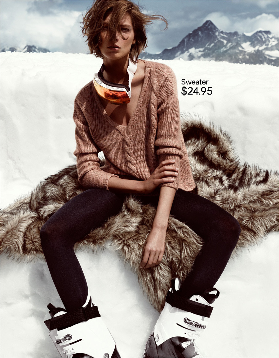 Daria Werbowy for H&M Fall/Winter 2012-13.