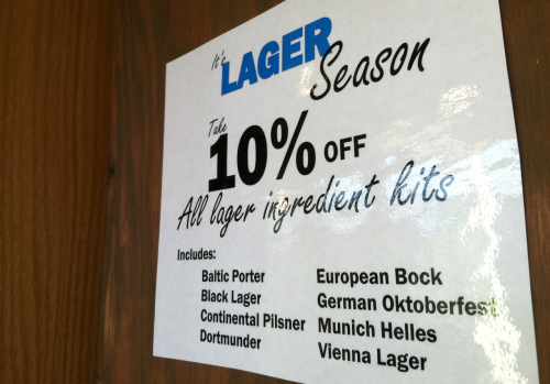 To celebrate lager season, take 10% off all ingredient kits online and at the Bell's General Store in downtown Kalamazoo: Baltic Porter Black Lager Continental Pilsner Dortmunder European Bock German Oktoberfest Munich Helles Vienna Lager