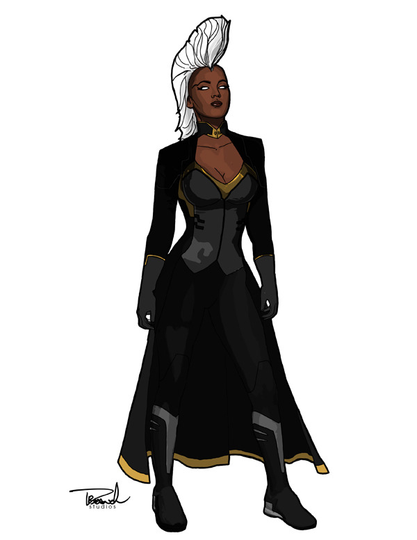 branch56:  Storm. Based offa Kris Anka's designs for the new MARVEL NOW! X-Force book. A great design and I've always wanted to draw Mohawk Storm.