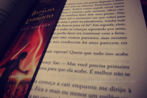 *-* my bookmark of The Battle of the Labyrinth and my book of Catching fire :3
