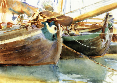 John Singer Sargent, Boats, Venice, 1903. Watercolour on paper, 35.56 x 50.16 cm.