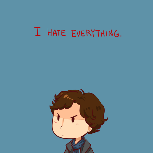 ineffableboyfriends:  Drew this because this is basically me 60% of the time ahahah *flies into the sun* Part of my demotivational series: [John][Lestrade][Molly]