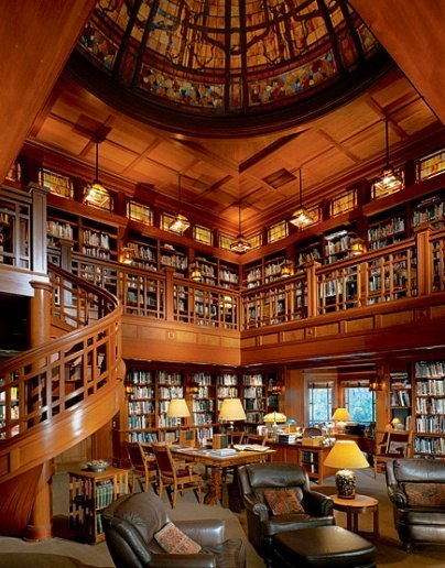 George Lucas' Library, Marin County, California photo via thespace