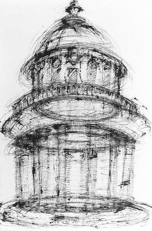 drawingdetail:  Michael Graves, Tempietto del Bramante, 1961.