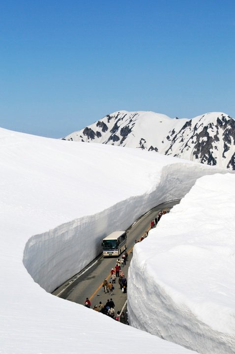 Snow Canyon, Toyama, Japan photo via vera