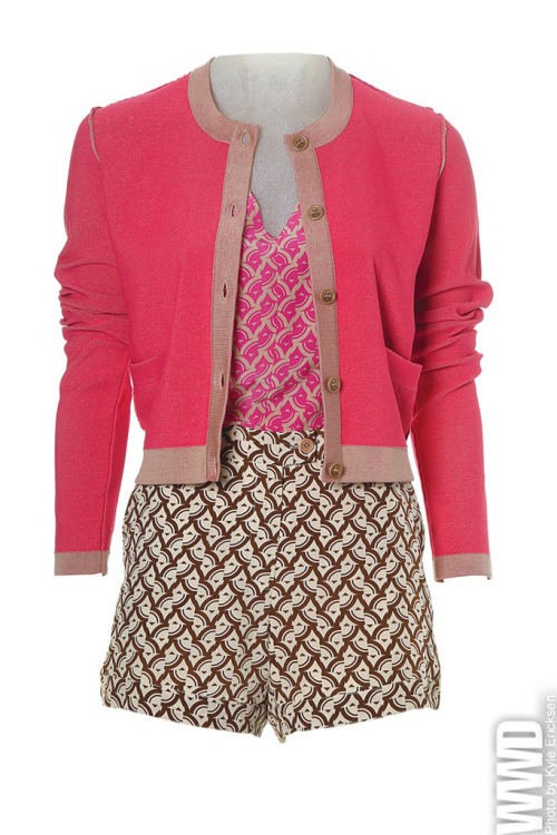 womensweardaily:  Spring 2013 Trend: Get Set  Rachel Roy  I would wear this and I would like it. A lot.