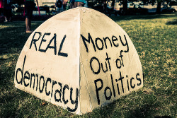 Occupying Democracy: Amendments to Get Money out of Politics- Russell Simmons and David DeGraw  The future of our democracy cannot be for sale. Politicians must represent the people who elected them, not those who donated to their campaigns. All of the challenges that the American people face are grossly influenced by money in politics, and that is why we strongly support a constitutional amendment to restore our democracy and protect the people of this great nation. A very broad coalition is uniting around this vital issue and it is just a matter of time before we reach critical mass. With the help of the GOOD community, we can soon reach a tipping point that forces historic political change.  Thousands of working groups are spread throughout the country, organizing toward the same goal: ending the corrupt culture that has consumed our government by getting money out of politics.  Continue reading on good.is