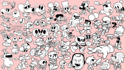 Just some video game dorks. Can you NAME THEM ALL? (probably not, there's a lot of obscure ones in there!)