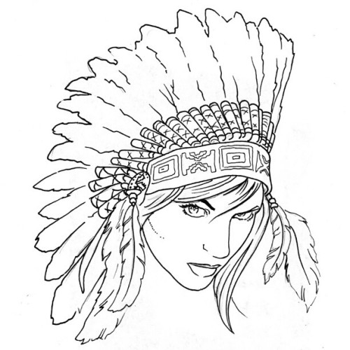 scottdoestattoo:  Who wants this Indian Princess? Tomorrow only $150. #tattoospecial #indian #thanksgiving #scottdoestattoos #sexy #tattoo  racist. re-tagged