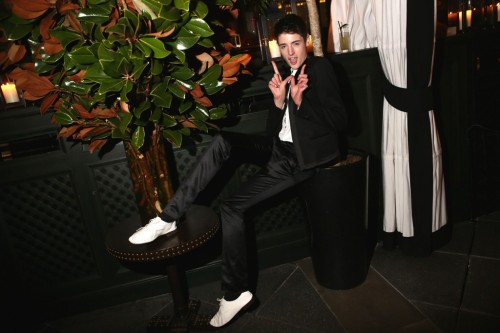 W Magazine Fetes 40th Anniversary        Harry Brant        Photo by Evan Falk