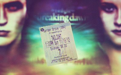 Breaking Dawn part 2 ticket on Flickr.Via Flickr: Love love love the ending of Breaking Dawn 2 . Big surprise to me since I haven't read the whole book yet. Besides Ed & Bel, I like Dr. Carlisle most. He is too good to be true ♥. One thing I don't like is baby Renesmee. Although she looks cute but seems too fake… don't know how to explain but quite creepy to me. Hahaha.