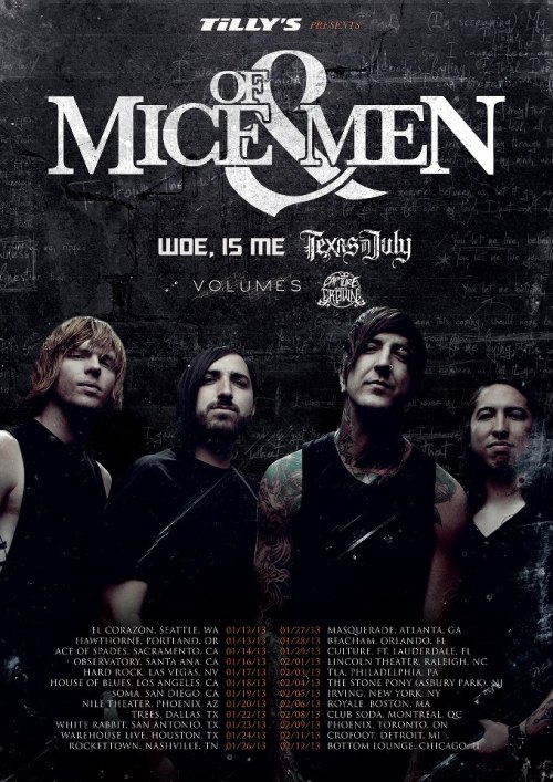 Of Mice & Men announce tour with Woe, Is Me, Texas In July, Volumes and Capture The Crown.