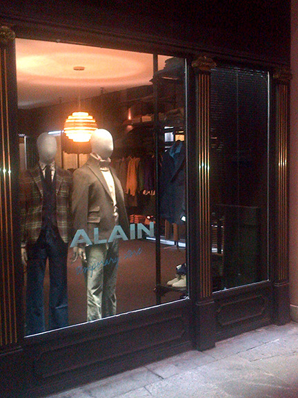 "ALAIN ""temporary store"" opens in his hometown of Brescia, Italy! Corsia del Gambero, 5"