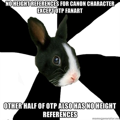 I'd be able to work with just relative heights, but a third character who does have a specific height is trying to seduce mine, and I'm fairly sure the scenes I'm imagining are contradicting reality on some level.