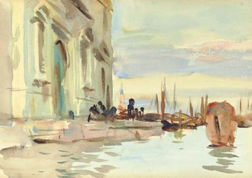 John Singer Sargent, Palazzo Zattere, Venice, 1906. Watercolour and gouache on paper, 25.4 x 35.6 cm (10 x 14 in). Private collection.