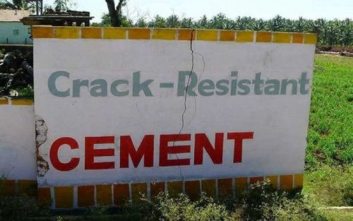 Crack-Resistant Cement  The owners of this business all have mothers with broken backs.
