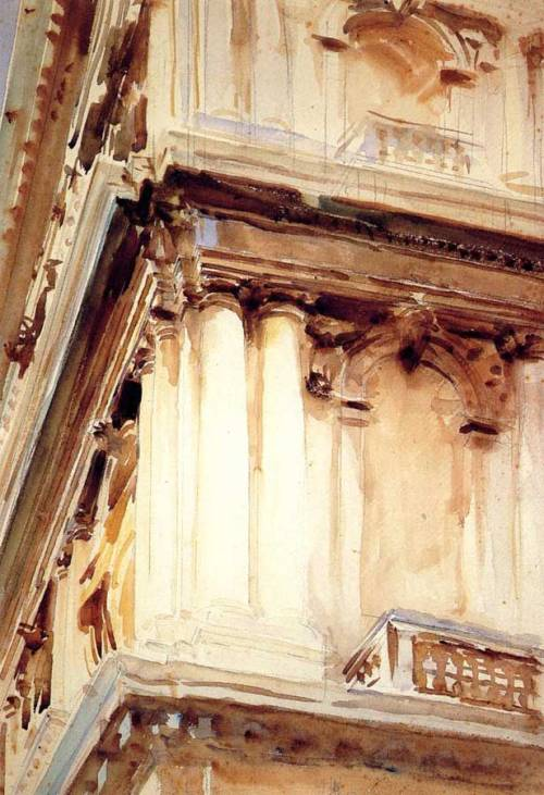 John Singer Sargent, Palazzo Corner della Ca' Grande, 1907. Watercolour on paper, 21 x 14.5 in. Private collection.
