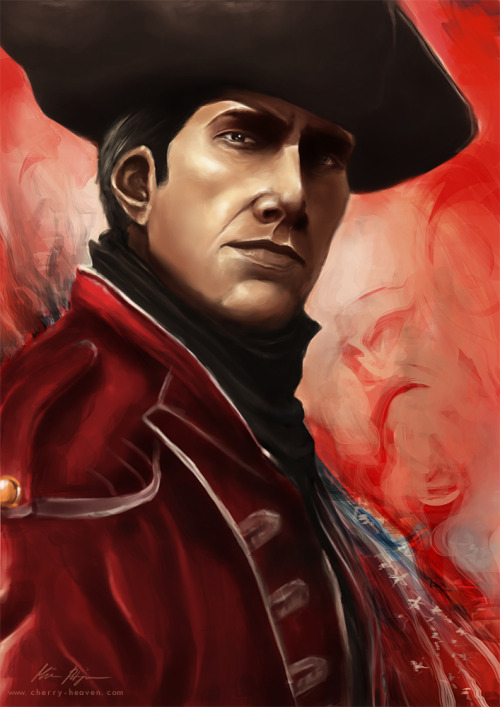 Haytham Kenway, Assassin's Creed III Another AC-portrait, and I absolutely adore Haytham. He's such a great character. I wanted to paint him in the red coat because it's little bit different, and the red looks delicious. My Connor Kenway-portait: here
