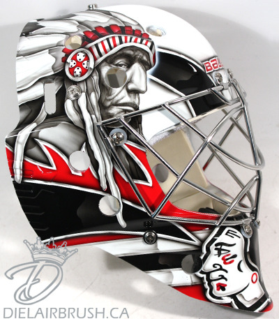 Ray Emery's new mask is FUCKING WICKED