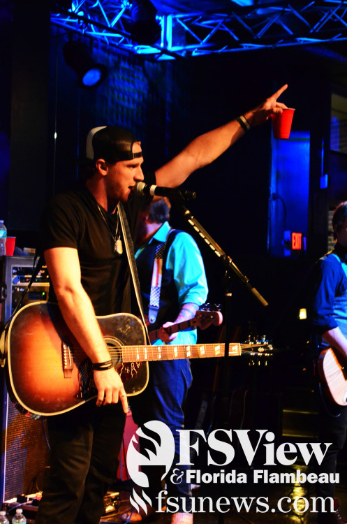 Chase Rice performed in front of a crowd of FSU students at Club Downunder Thursday November 15, 2012.