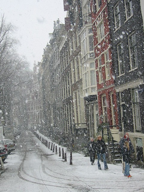Snowy Day, Amsterdam, The Netherlands photo via eva