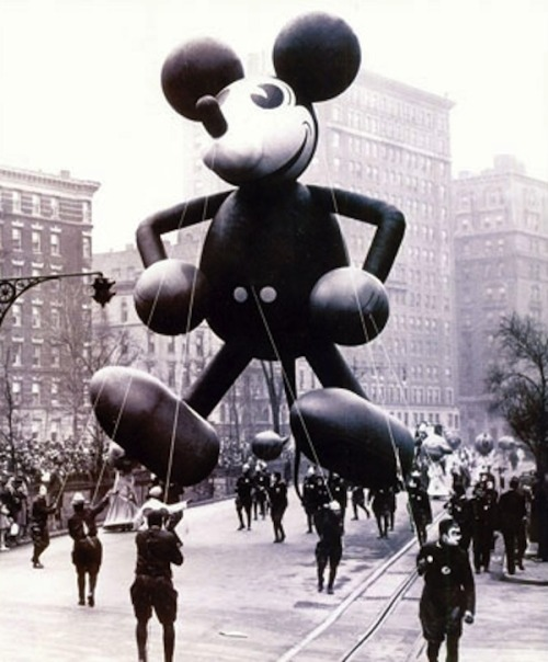 Vintage Photographs of Thanksgiving Day Parade Balloons
