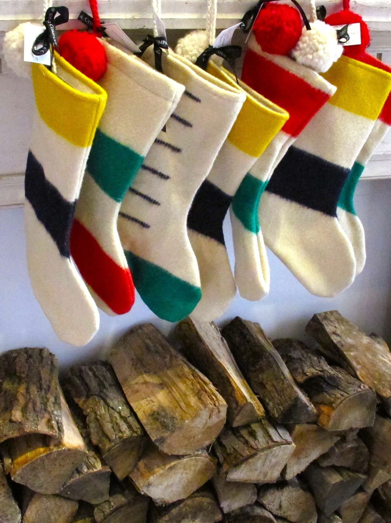 Vintage Hudson Bay Blankets made into Stockings