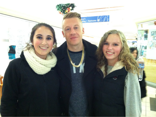 So I meet macklemore with my best friend over the weekend