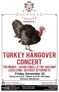 Atlanta Turkey Hangover / Black Friday Show - Jason Isbell & The 400 Unit The Whigs Lera Lynn The District Attorneys stream.buy.download The District Attorneys latest - Slowburner