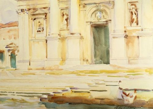 John Singer Sargent, The Portal of S. Giorgio Maggiore, Venice, 1905. Watercolour on paper, 9 1/2 x 13 3/4 in. Private collection.