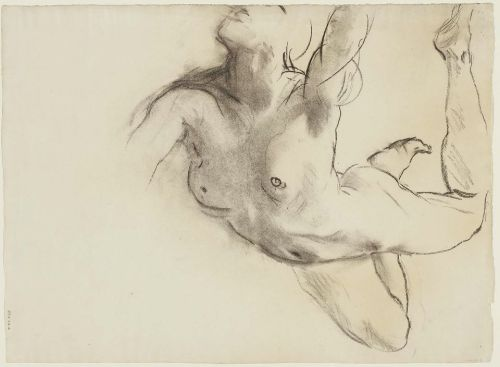 John Singer Sargent, Sketch for the Sphinx and the Chimaera (Rotunda), 1917-21. Charcoal on paper, 62 x 45.5 cm (24 7/16 x 17 15/16 in). Museum of Fine Arts, Boston.