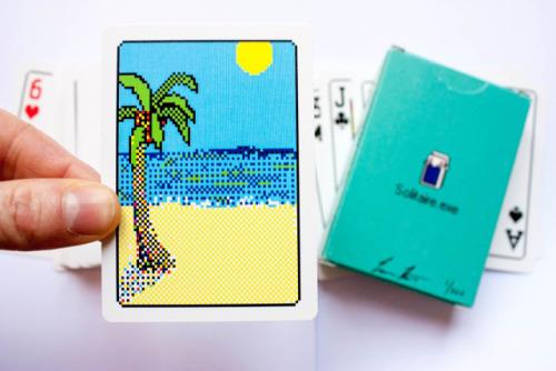 laughingsquid:  Solitaire.exe, A Real Deck of Cards Inspired by the Windows 98 Solitaire PC Game
