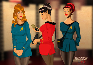 Ladies of Star Trek (via despopart: The Ladies of Star Trek- And my muse Jordan Colton)